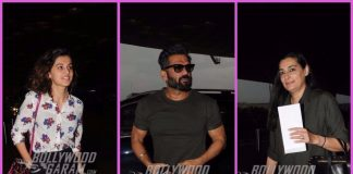 PHOTOS – Taapsee Pannu, Suniel Shetty and Mana Shetty snapped at airport