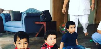 Kareena Kapoor's son Taimur Ali Khan and Tusshar Kapoor's son Laksshya catch up together