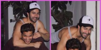 PHOTOS – Varun Dhawan snapped in a playful mood with trainer