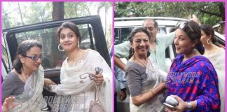 Photos: Kajol,Tanisha Mukherji, Tanuja and Sharbani offer prayers during Navratri