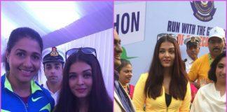 Aishwarya Rai Bachchan flags off marathon in Mumbai – Photos