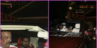 Abhishek Bachchan and family leave for a Diwali party – Photos