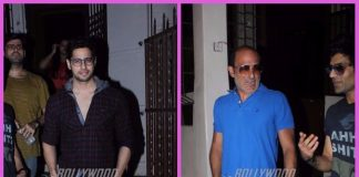 Ittefaq actors, Sidharth Malhotra and Akshaye Khanna at Shankar Mahadevan's recording studio – Photos