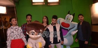 Golmaal Again cast interact with Chota Bheem and Oggy for promotions – PHOTOS