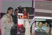 Kareena Kapoor, Karisma Kapoor and Samiera visit Babita Kapoor on Diwali – Photos
