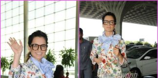 Kangana Ranaut waves for cameras as she leaves for Jaipur – PHOTOS