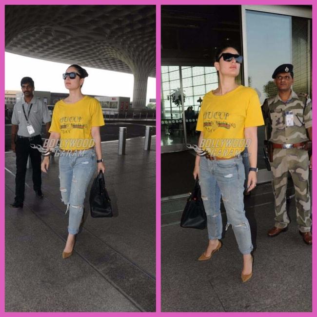 Kareena Kapoor Khan airport