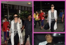 Photos: Kareena Kapoor in black and white ensemble with son Taimur at the airport