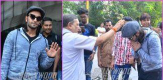 Ranveer Singh seeks blessings from priest for Padmavati – PHOTOS