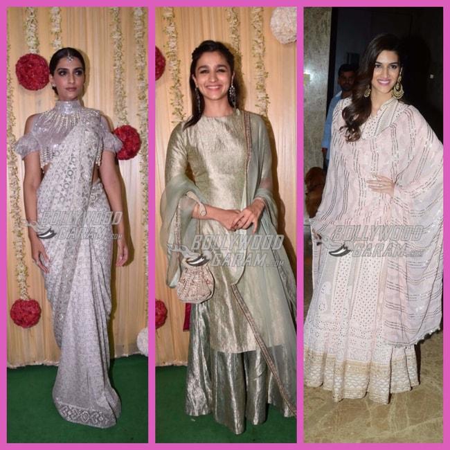 Sonam_Alia-Kriti_Diwali 2017 looks