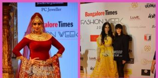 Sridevi looks gorgeous in red lehnga and heavy jewellery at Bangalore Fashion Week