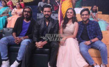 Riteish Deshmukh and Arko Parvo Mukherjee have fun on sets of Sa Re Ga Ma Pa L'il Champs