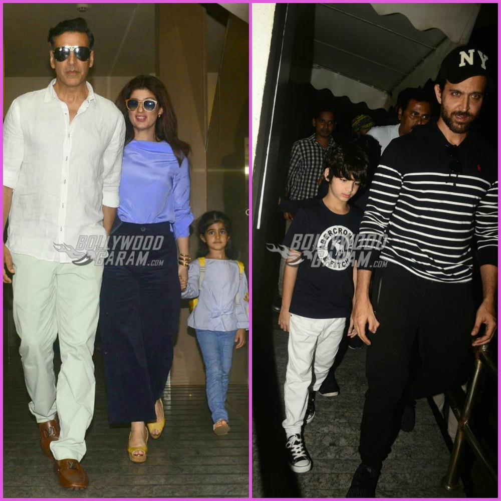 Hrithik Roshan and Akshay Kumar on a family day out