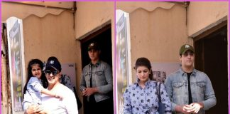Akshay Kumar and family spend time over a movie – PHOTOS