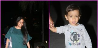 Arpita Khan goes on stroll with son Ahil in the streets of Mumbai- PHOTOS