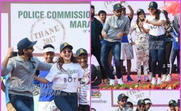 Hrithik Roshan and Jacqueline Fernandez flag off marathon in Mumbai – PHOTOS