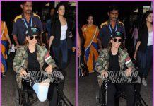 Injured Kangana Ranaut shows off her plastered leg at airport – PHOTOS
