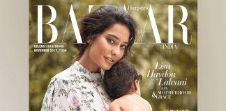 Lisa Haydon features on cover of Harper's Bazaar with son Zack Lalvani