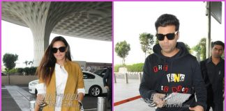 Karan Johar and Neha Dhupia off to Hyderabad – PHOTOS