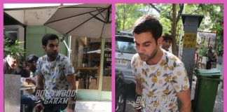 Injured Rajkummar Rao spends leisure time at a popular restaurant in the city-PHOTOS