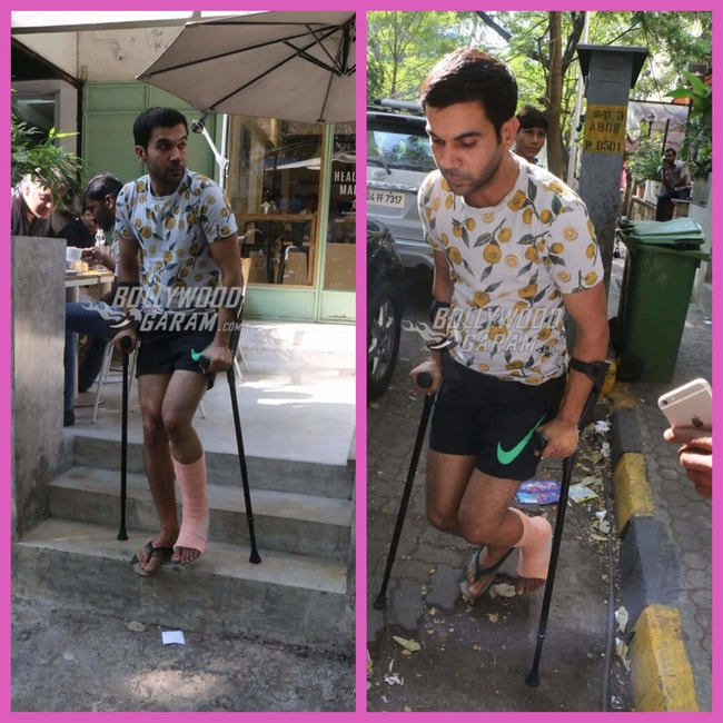 Hurt Rajkummar Rao Spotted Outside Popular Eatery In The City