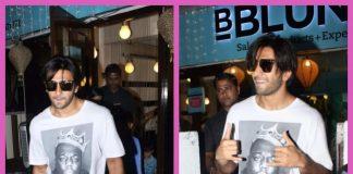 Photos: Ranveer Singh sports a new look coming out of B Blunt salon post Padmavati shoot wrap