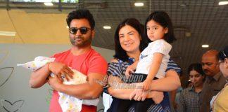 Urvashi Sharma and Sachiin Joshi take home their newborn son Shivansh – PHOTOS