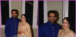 Zaheer Khan and Sagarika Ghatge pose at their wedding reception – PHOTOS
