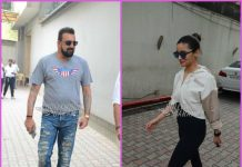 Sanjay Dutt and Alia Bhatt at Vishesh Films office – PHOTOS