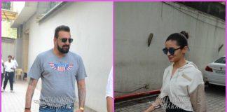 Sanjay Dutt and Alia Bhatt at Vishesh Films office – PHOTOS