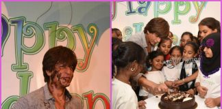 Shah Rukh Khan celebrates Children's Day with some dancing and cake – PHOTOS