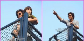 Shah Rukh Khan and AbRam greet and thank fans outside Mannat – PHOTOS