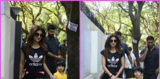 Shilpa Shetty on a  casual outing with son Viaan Kundra – PHOTOS