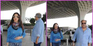 Sridevi and Boney Kapoor make a stylish appearance at airport – PHOTOS
