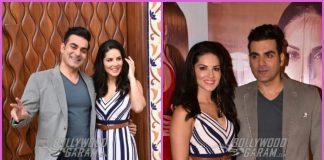 Arbaaz Khan and Sunny Leone in a fun mood as they promote Tera Intezaar – PHOTOS