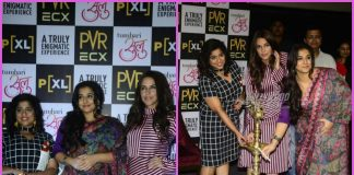Vidya Balan, Neha Dhupia and RJ Malishka promote Tumhari Sulu at PVR – PHOTOS