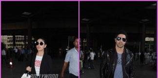 Varun Dhawan and Yami Gautam make their way at the airport – PHOTOS