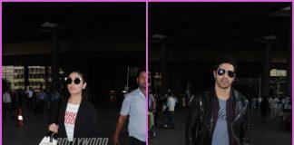Varun Dhawan and Yami Gautam make their way at the airport – PHOTOS