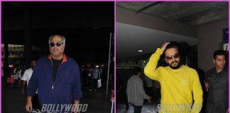 Boney Kapoor and Riteish Deshmukh make their way at airport – PHOTOS