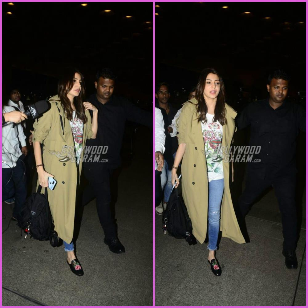 Anushka Sharma leaves for Italy amidst rumours of wedding with Virat Kohli