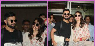 Virat Kohli and Anushka Sharma make their first appearance in Mumbai post wedding