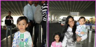 Arpita Khan and Ahil make a happy appearance at airport