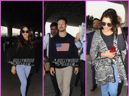 Tiger Shroff, Parineeti Chopra and Bhumi Pednekar on a pleasant day at airport