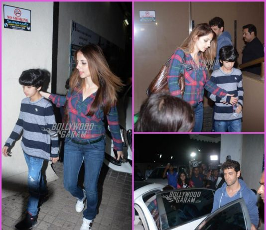 Hrithik Roshan and Sussanne Khan on a movie date with sons