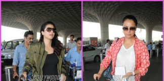 Kajol and Lara Dutta make stylish appearance at airport