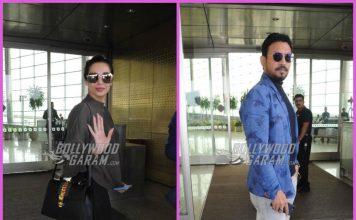 Malaika Arora and Irrfan Khan make a stylish appearance at airport