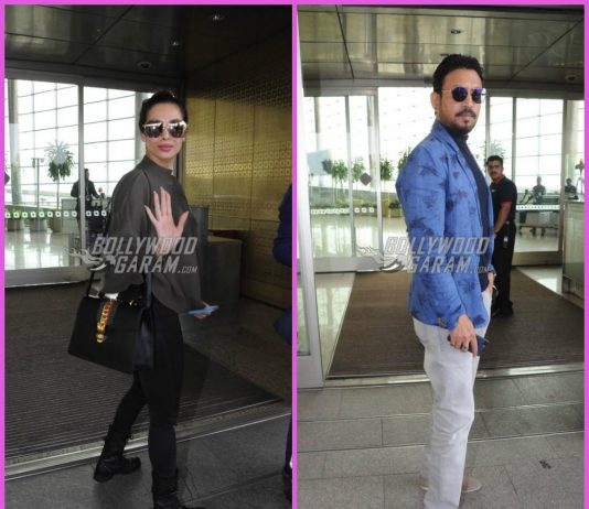 Malaika Arora and Irrfan Khan make a stylish appearance at airport