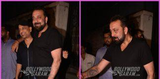 Sanjay Dutt looks great at a friend's bash in Mumbai
