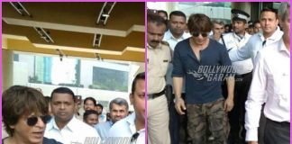 Shah Rukh Khan surrounded by fans at popular hangout spot