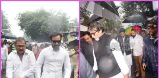 Celebrities from Bollywood attend funeral of Shashi Kapoor